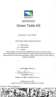 Miljøfyrtårn sertifikat